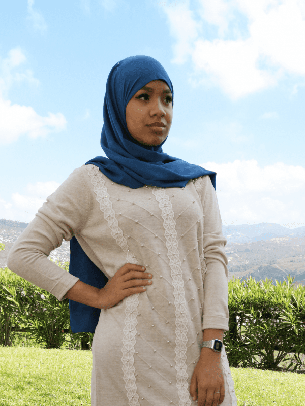 Hijab georgette color azul